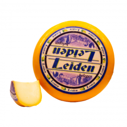 Gouda Leiden cheese seasoned