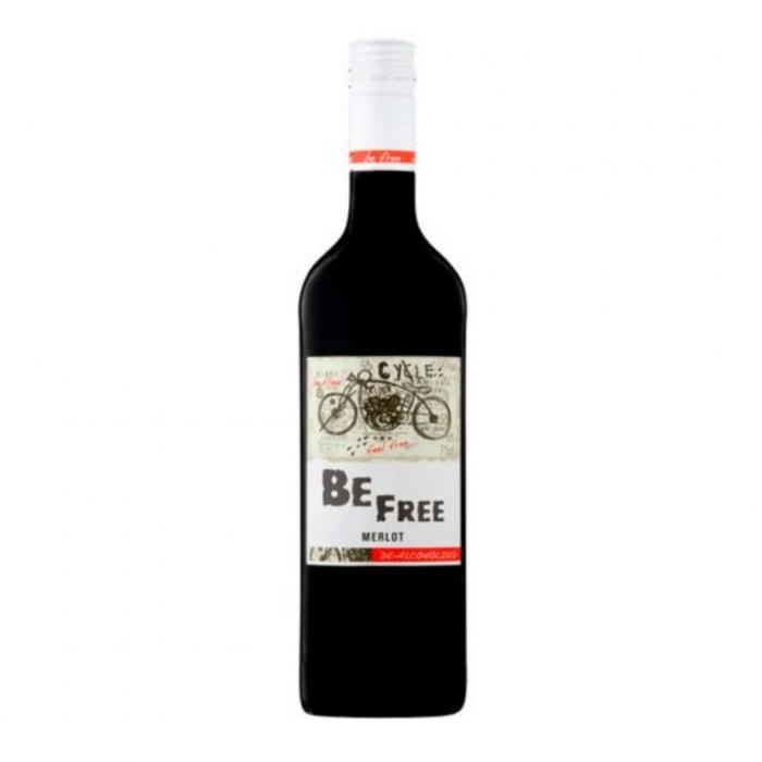 Вино безалкогольное Be Free Мерло, красное, 0.75 л