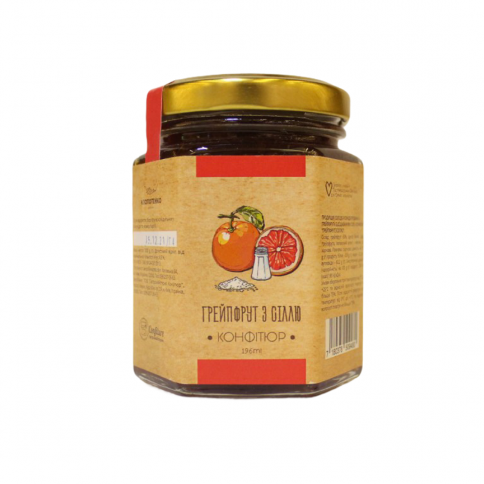 Confiture with grapefruit and salt, 200g