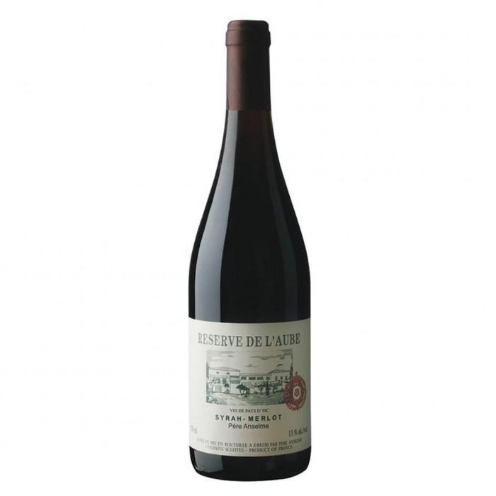 Вино Reserve de l'Aube Pere Anselme Syrah-Merlot сухое красное 0,75 л