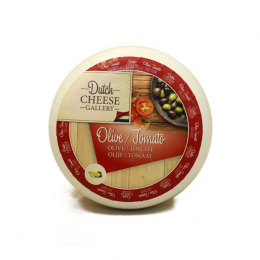With olives and dried tomatoes