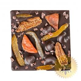 Black chocolate with dried fruits and nuts, 60 grams