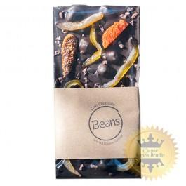 Black chocolate with dried fruits and nuts, 120 grams