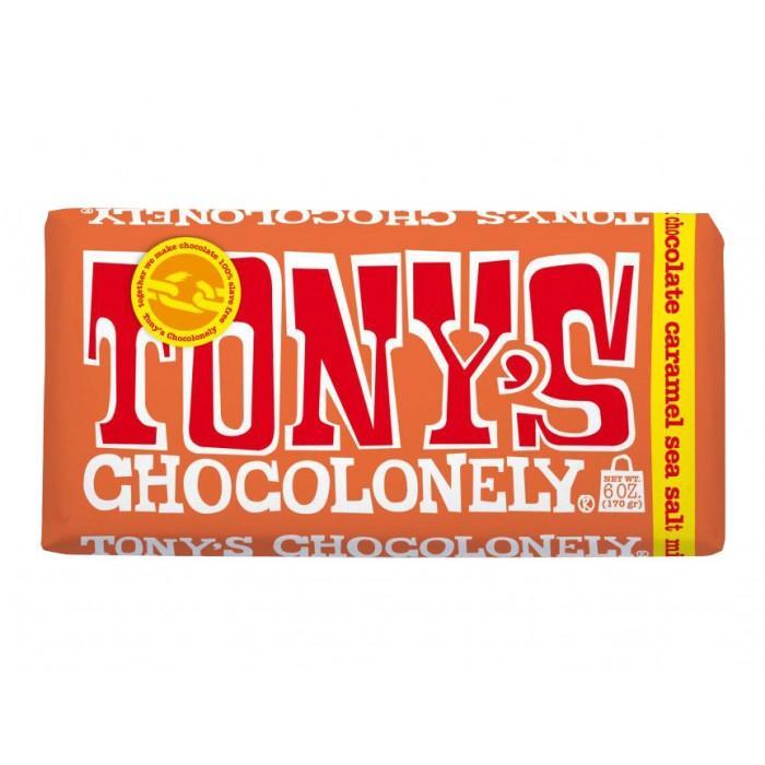 Шоколад Tony молочный с соленой карамелью, 180г