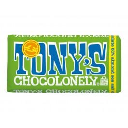 Chocolate Tony black with salted almonds, 180g