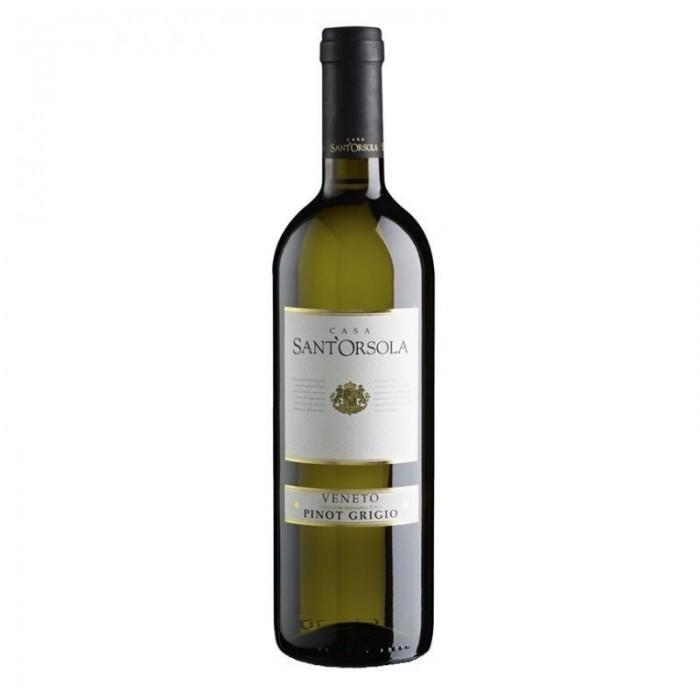 Dry natural white wine Bianco Sant'Orsola 0.75